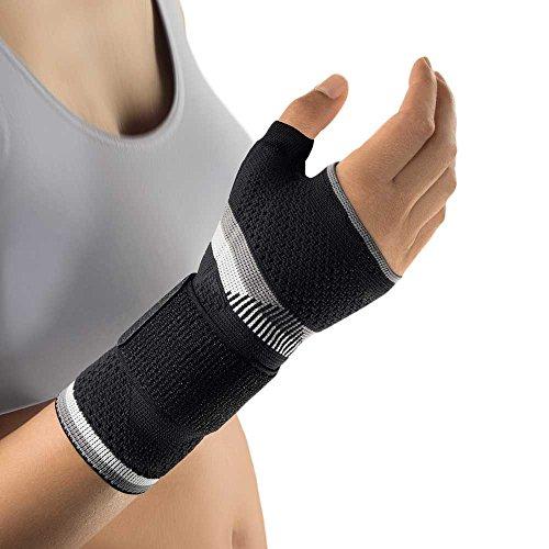 Bort ManuBasic® Plus Handgelenk Bandage Hand Gelenk Stütze Daumen Stabiliserung, Rechts, L