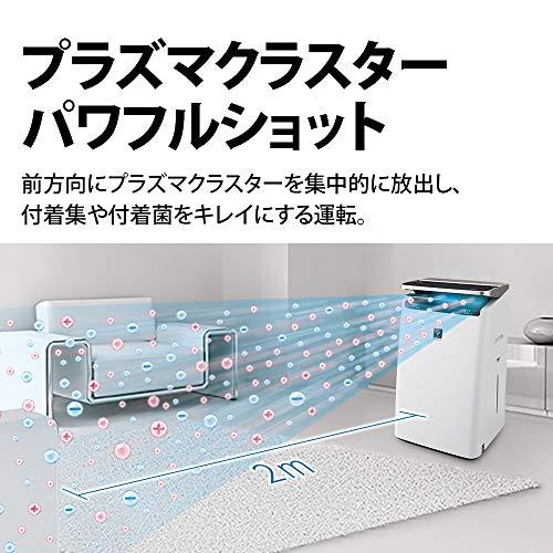 シャープ加湿空気清浄機プラズマクラスターNEXT(50000)プレミアム23畳/空気清浄40畳自動掃除2019年モデルホワイトKI-LP100-W