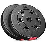 Hop-Sport Hantelscheiben-Set 5, 10, 20, 30 kg Kunststoff Gewichte 30 mm Hanteln Gewichtsscheiben (2...