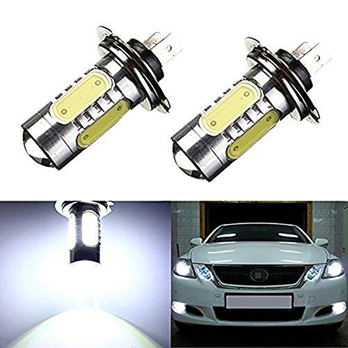 KATUR Lot de 2 ampoules LED H7 7,5 W COB pour projecteur de voiture E1002