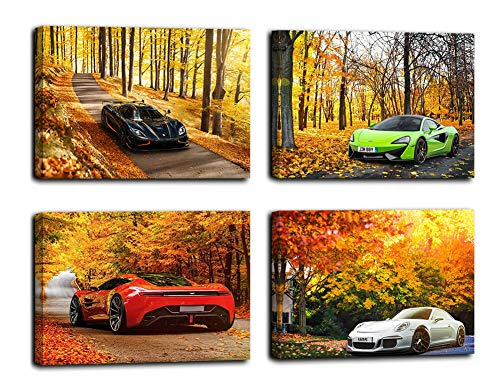 Car Poster Boys Room Decorations For Bedroom Poster For Boys Canvas Wall Art Autumn Landscape Decor Sport Car Pictures Lamborghini Poster Giclee Canvas Prints Artwork For Bedroom Cars Room Decor Buy
