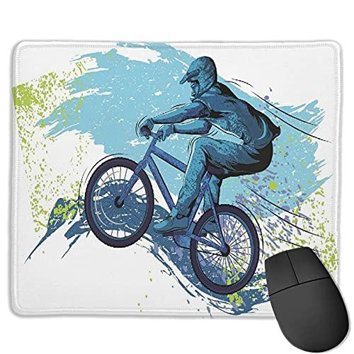 Dekoratives Gaming-Mauspad,Fahrrad BMX von Sportsman Cycling Extreme Bik,Bürocomputer-Mausmatte mit rutschfester Gummibasis