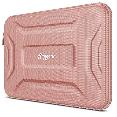 SUPGEAR Laptop Sleeve Case for 13-13.3 Inch Notebook, Shockproof Waterproof Computer Bag Protective Compatible for MacBook Pro, MacBook Air, Notebook, Microsoft Surface, Chromebook (Rose Gold)
