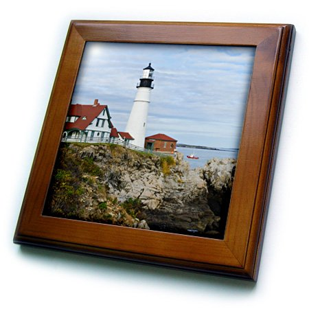 3dRose USA Maine, Portland Portland Scheinwerfer Leuchtturm auf Rocky Shore von Fliesen, 8von 20,3cm