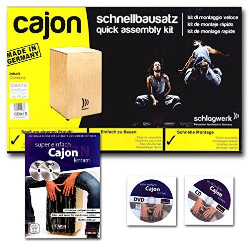 Schlagwerk CBA 1S My Cajon Bausatz + Cajon Schule mit CD und DVD