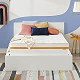 Simmons - Hybrid Gel Memory Foam Mattress - 12 Inch, Full Size, Plush Feel, Individually Wrapped Coils, Moisture Wicking Cover, CertiPur-US Certified, 100-Night Trial
