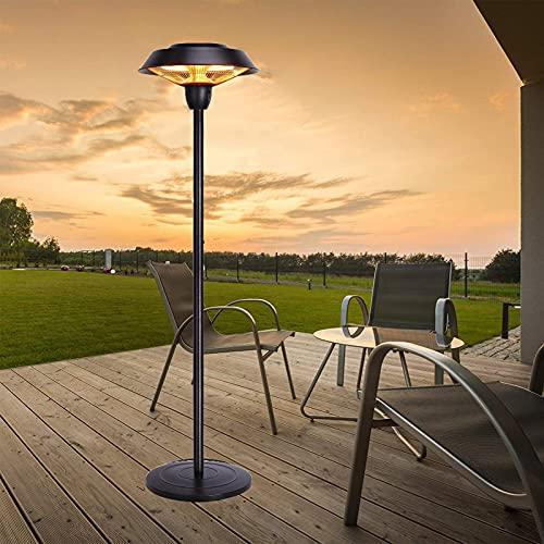 JKGCHKJYTYH Calentador De Terraza,Calefactor De Exterior Eléctrico,Calefactor Vertical Ip44 Impermeable Ahorro Energético Estufa Eléctrica con Soporte