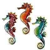 Estatuas en miniatura Adornos Animal Jardin y Metal Seahorse para la decoración del jardín Escultura al aire libre Adornos de sala de estar (Color : MULTI)