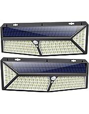 kilponen Luce Solare Led Esterno 430 LED 【USB Ricaricabile & 3500 Lumen】 Lampade Solari a Led da Esterno di Movimento 270º Illuminazione 4400mAh Luci Solari Impermeabile IP65 per Esterno