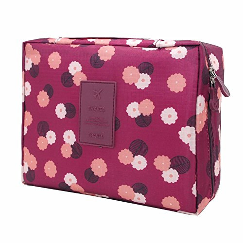 Toiletry Small Pouch Cosmetic Makeup Zipper Personalized Bag for Women Teen Girl (Case Purple)