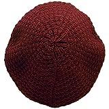 (ディグズハット)DIGZHAT ベレー帽 アクリル メンズ レディース タム ニット帽 フリーサイズ (ワイン)