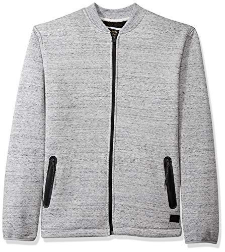 Quiksilver Men's KUROW Sherpa Bomber Jacket, Light Grey Heather, XL