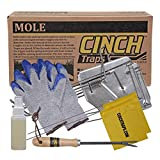 Cinch Mole Trap with Tunnel Marking Flag (Small) Heavy-Duty, Reusable Rodent Trapping System | Lawn, Garden, and Outdoor Use | W/ Tools (Pack of 2)