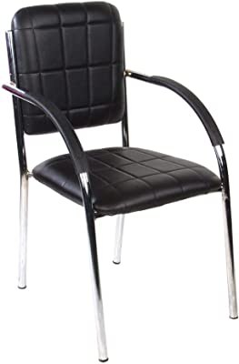 Mezonite Black Leatherette Office Visitor Chair