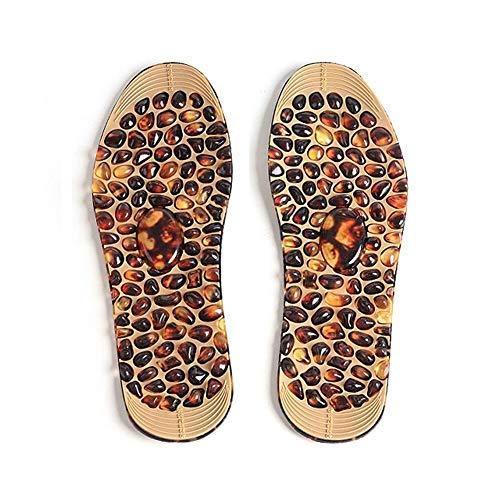 Plantillas Para Zapatos Desodorante Suela 1 par de adoquines plantillas del masaje de la terapia de goma Hombres Mujeres suave acupresión del cojín del pie zapatos del peso Pierde Insertar Pies de la