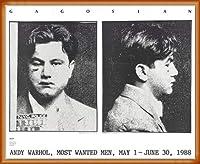ポスター アンディ ウォーホル Most Wanted Men No. 2 John Victor G 額装品 ウッドベーシックフレーム(オレンジ)