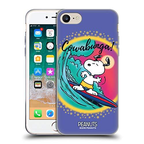 Head Case Designs Oficial Peanuts Surf Cowabunga Aerógrafo Snoopy Boardwalk Carcasa de Gel de Silicona Compatible con Apple iPhone 7 / iPhone 8 / iPhone SE 2020