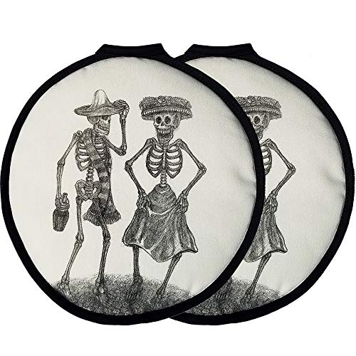 """12"""" LARGE Tortilla Warmer Dia de los Muertos Chihuahua Dog. This Premium INSULATED tortilla pouch keeps corn & flour tortillas warm from the skillet, pan, grill or microwave!"""
