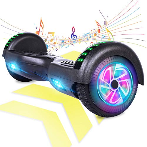 FLYING-ANT Electric Smart self Balancing Scooter Hoverboard with Bluetooth Speaker Black Color