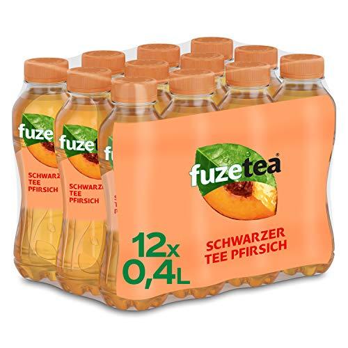 Fuze Tea Pfirsich, EINWEG Flasche (12 x 400 ml)