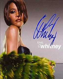 whitney houston signed memorabilia