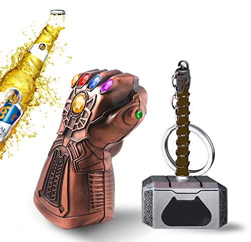 Thors Hammer - Guanto Thanos per bottiglie, con scritta in lingua inglese 'Avengers'