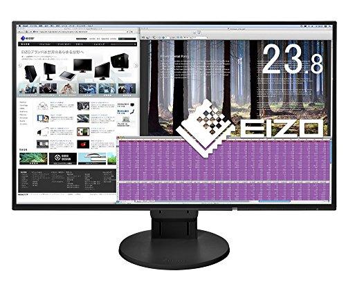 EIZO FlexScan 23.8インチ ディスプレイ モニター (フルHD/IPSパネル/ノングレア/ブラック/5年間保証&無輝...