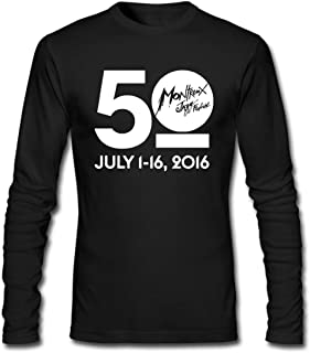 Hefeihe DIY Montreux Jazz 50th Festival 2016 Men's Long-Sleeve Fashion Casual Cotton T-Shirt