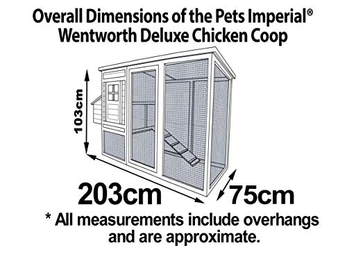 Pets Imperial® Devonshire Large Chicken Coop Hen House Ark Poultry Run Nest Rabbit Hutch Box Suitable For Up To 4 Birds – Integrated Run & Cleaning Tray & Innovative Locking Mechanism - 9