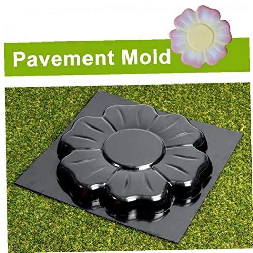 BYFRI 1pc Zement Pflaster Mold Startseite DIY Bodenfliese Sprungbrett-Form-Durable-Blumen-Muster Stein Zement Mold Garten Dekoration Supplies