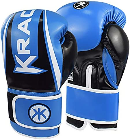 KRACE Boxing Gloves Blue 12oz for Youth Women Training Muay Thai Gloves for Sparring Punching product image