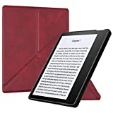 GLGSHOULIAN Caso para Kindle,Funda Origami para Kindle Oasis (9A-10A Generación, 2017-2019 Release) - Slim Fit Stand Cover with Auto Wake Sleep, Rojo