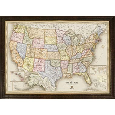 Homemagnetics MM3624USA Magnetic Travel Map of The USA, Magnets Included, 39 by 27-Inch