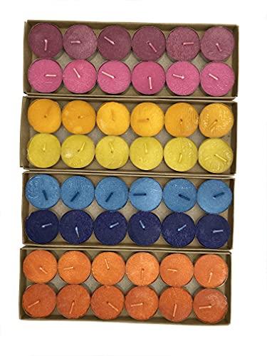 Lote de 48 velas de té aromáticas antitabaco de 4 aromas + quemador aleatorio de regalo