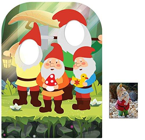 Gartenzwerg Stehen Hinter Kindergröße Pappaufsteller - mit 25cm x 20cm foto