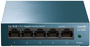TP-Link LS105G - Switch Ethernet 5 Puertos (10/100/1000Mbps), Switch Gigabit, Switch WiFi, Carcasa metálica,...