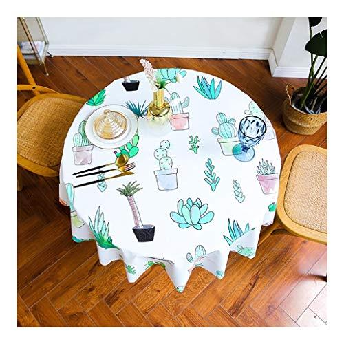 - Huishouden tafelkleed rond tafelkleed oliebestendig bedrukt tafelkleed buiten mat decoratie tafelkleed manteles waterdichte stoffen tafelafdekking gemakkelijk te reinigen waterdicht en anti-fouli