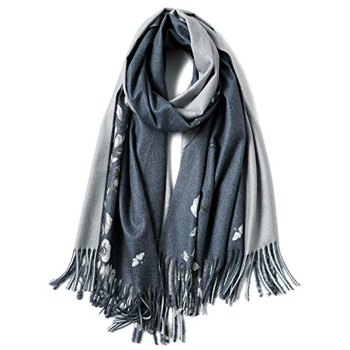 YYSND sjaal van wol en kasjmier met sjaal van selvatier kasjmier herfst en winter