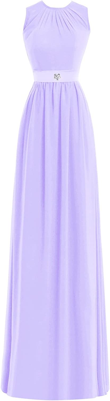 Dasior A Line Scoop Neckline Long Prom Gown Formal Evening Dress