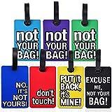 BESROY Bagages Étiquettes, 7 Pièces PVC Etiquettes à Bagages Etiquettes...