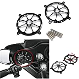 GUAIMI Audio Fairing Mount Speaker Grill Cover Compatible with Harley Touring Street Glide FL Trike 1996-2013 -Skeleton Wreck