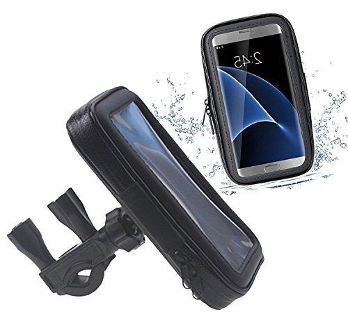 DaoRier wasserdichte Fahrrad Motorrad Bike Hülle Schutzhülle ABS 360 Grad Universal Handyhalterung Fahrradhalterung Lenkstange Handy Halter Wasserabweisend für iPhone 6 6s Samsung Galaxy S4 (L)