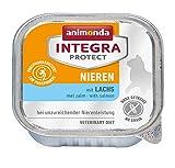 animonda Integra Protect Nieren Katzen, Nassfutter bei Niereninsuffizienz, mit Lachs, 16 x 100 g