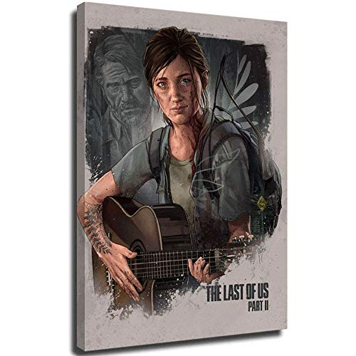 Ghychk The Last of Us Part 2 - Lienzo decorativo (30,48 x 45,72 cm), diseño de juegos de aventura de Ellie y Joel