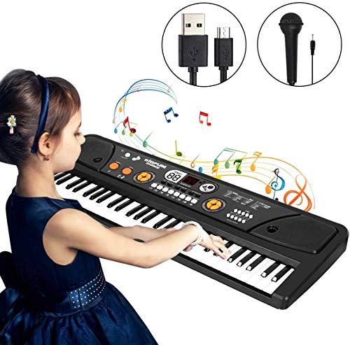 Shayson 61 Tasten Keyboard,Digital Klavier Piano mit Mikrofon Für Kinder Geschenk ideal für Kinder und Einsteiger