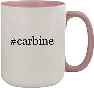 #carbine - 15oz Hashtag Colored Inner & Handle Ceramic Coffee Mug, Pink