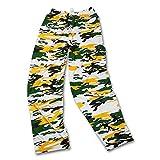 Zubaz NFL Green Bay Packers Men's Camo Print Team Logo Casual Active Pants, Small, Green/Gold/Black