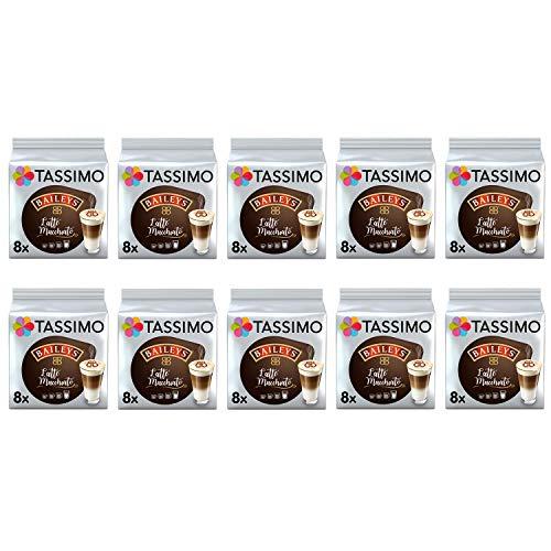 Tassimo Latte Machiatto Baileys Cápsulas de café- 10 paquetes (80 bebidas)