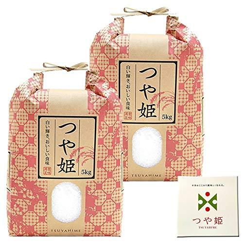 山形県産 つや姫 10kg 紙袋 令和2年度産 (1分づき 4.95kg×2袋)