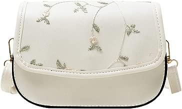 SUNyongsh Fashion Women's Solid Color Buckle Flower Leather Shoulder Bag Messenger Bag Fashion Lady Shoulder Bag